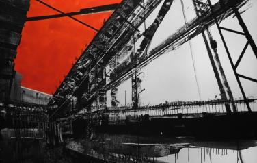Red Triangle, 120х170, холст, акрил