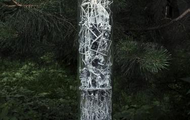 Эволюционное вещество, 60х10 см., полимеры, оргстекло, смеш. тех., 2020