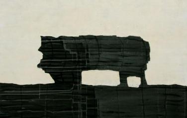 Стратиграфия № 4. 105х105. 2012.  Холст, акрил.