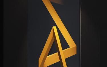 Angle of reflection, медиаобъект, 120x86x30 cm, дисплей, дерево, смеш.тех