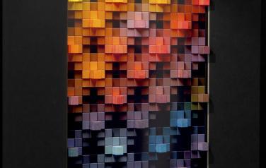 Color Depth, медиаобъект, 120x86x30 cm, дисплей, дерево, смеш.тех