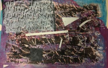 """Из цикла """"Любовь к цвету"""", 80х43 см., 2015 г., монотипия"""