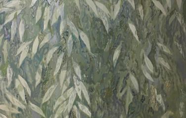 Белесые листья, 150х100см, холст, масло, 2018 г.