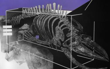 Левиафан, 100х140 см., холст, акрил