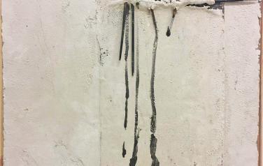 Посвящение Ши Тао, 69х64. оргалит, бум. масса, рельеф, кисти, гуашь, 2000