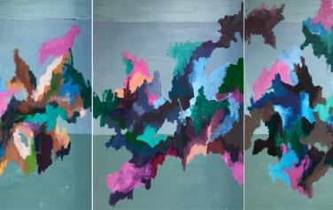 """Триптих из серии """"Окна"""", 50х70 см. каждая часть, х.м."""
