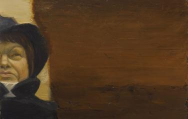 Портрет неизвестной 5. 2011. Дерево, масло, 30х40_1