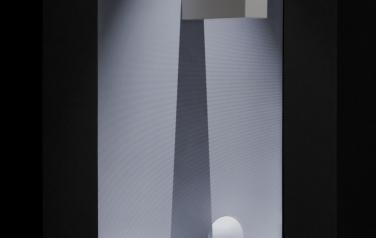 Shadow, медиаобъект, 120x86x30 cm, дисплей, дерево, смеш.тех