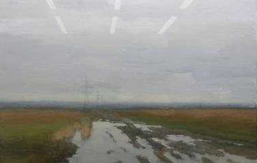 Пейзаж за стеклом. 2012. х.м. 150х200